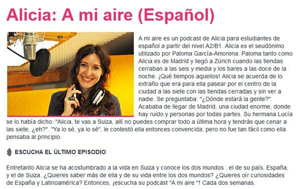 A mi aire Podcast zum Spanisch lernen