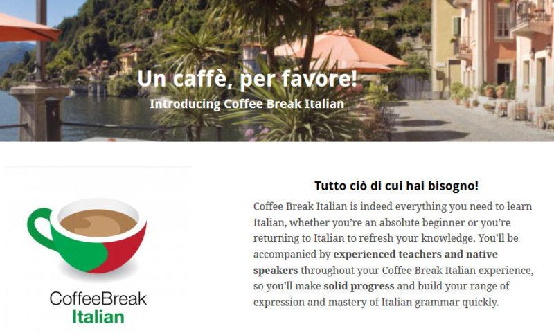 Pause café Podcast italien pour apprendre l'italien