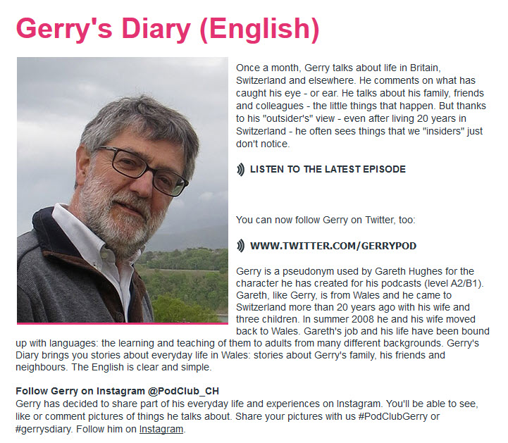 Gerrys Diary Podcast zum Englisch lernen