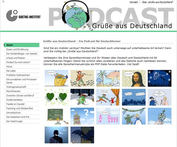 Gruesse aus Deutschland Podcast zum Deutsch lernen