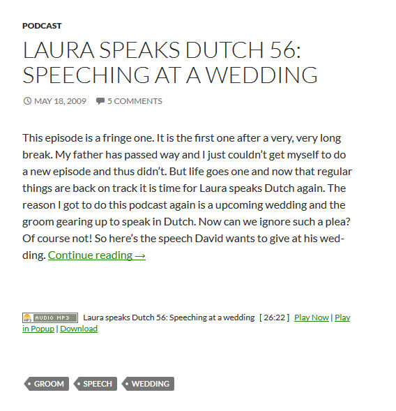 Laura Speaks Dutch Podcast zum Holländisch lernen