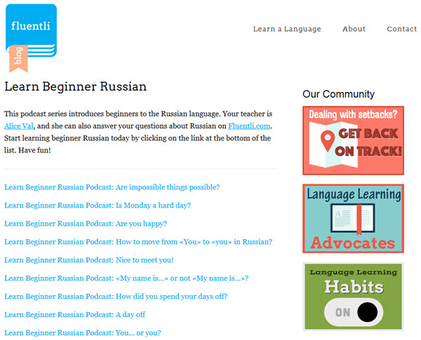 Learn Beginner Russian Podcast zum Russisch lernen