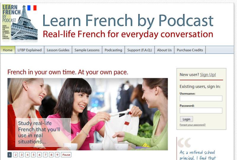 Apprendre le français par podcast pour apprendre le français