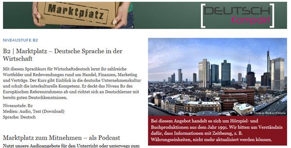 Podcast sur le marché pour apprendre l'allemand