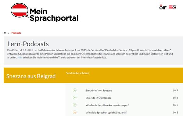Podcast de mon portail linguistique pour apprendre l'allemand