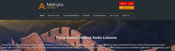 Podcast chinois Melnyks pour apprendre le chinois