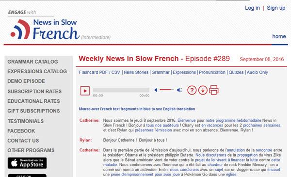 News in Slow French Podcast zum Französisch lernen