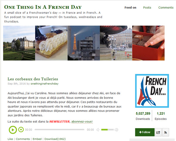 One thing in French a day Podcast zum Französisch lernen