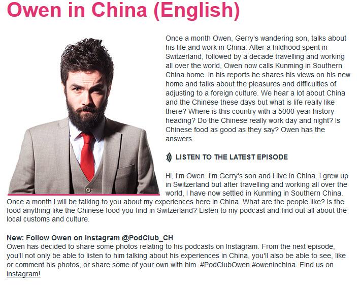 Podcast d'Owen en Chine pour apprendre l'anglais