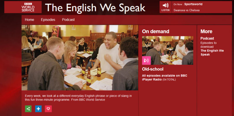 The English we Speak BBC Podcast zum Englisch lernen