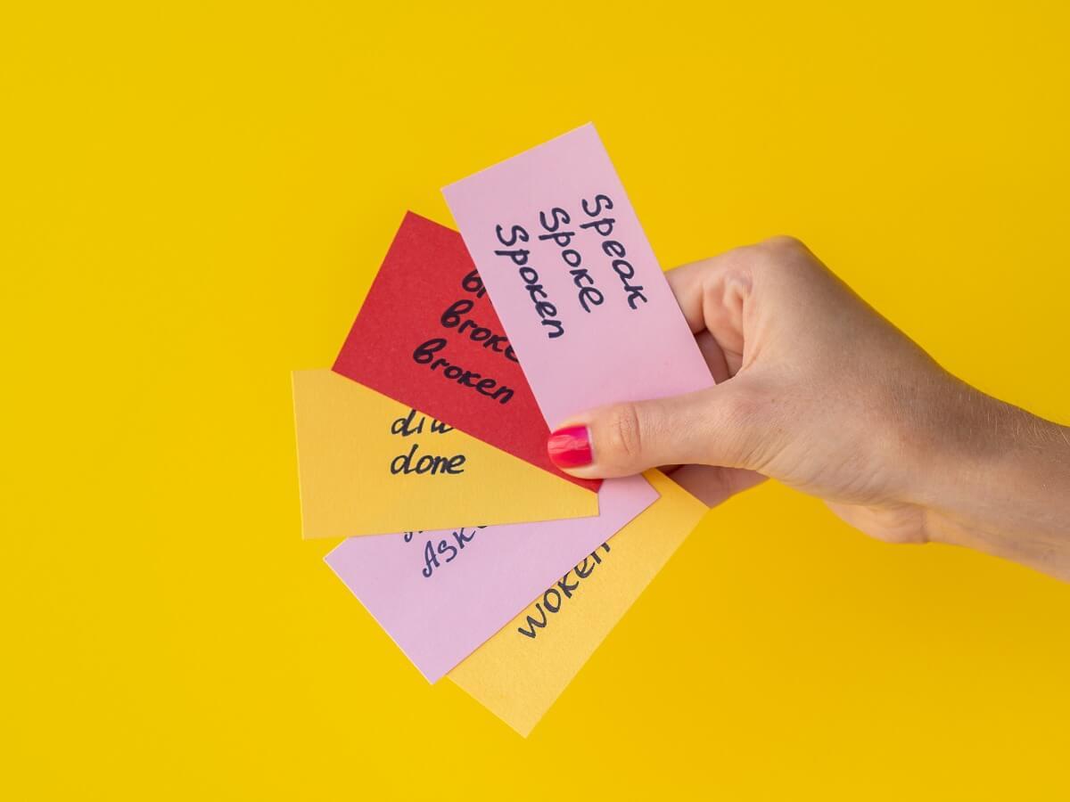 Vokabeln lernen mit Karteikarten