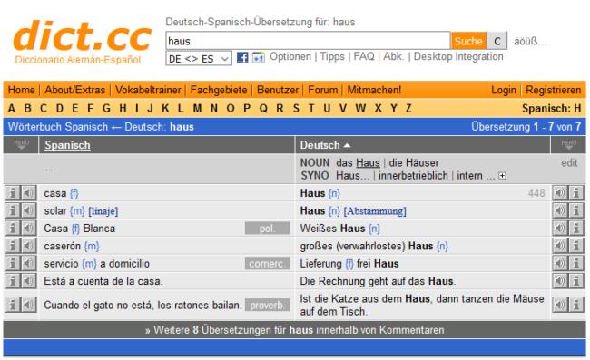Sprachtool-Übersetzer-Wörterbuch-Dict.cc