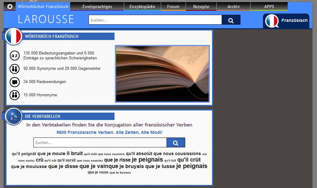 Online-Wörterbuch und Französisch-Übersetzer Larousse