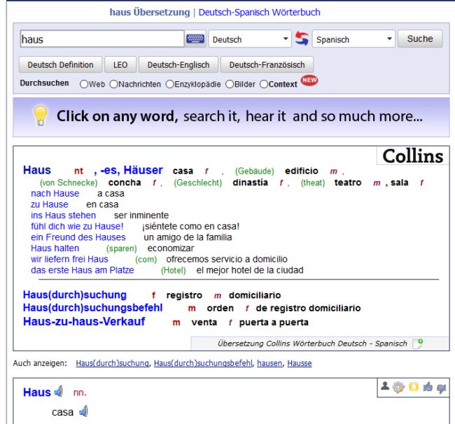 Sprachtool-Übersetzer-Wörterbuch-Reverso