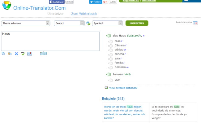 Sprachtool-Übersetzer-Wörterbuch-online-translator.com