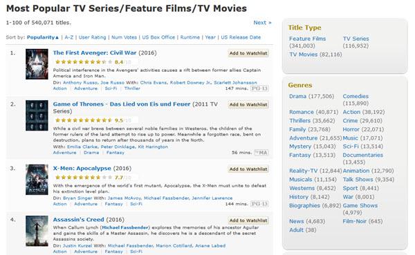 imdb beste serien
