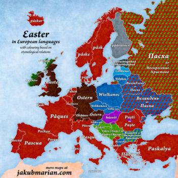 Ostern in den europäischen Sprachen, von Jakub Marian.