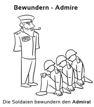 Bewundern-Admire Eselsbrücke Deutsch-Englisch