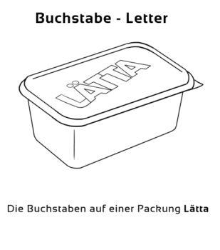 Buchstabe-Letter Eselsbrücke Deutsch-Englisch