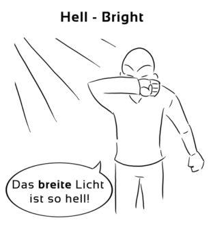 Hell-Bright Eselsbrücke Deutsch-Englisch
