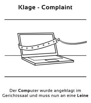 Klage-Complaint Eselsbrücke Deutsch-Englisch
