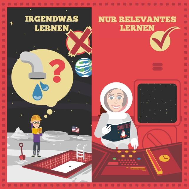 Beim Sprachenlernen nur relevante Inhalte lernen