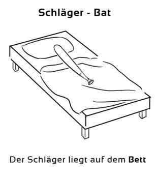 Schlaeger-Bat Eselsbrücke Deutsch-Englisch