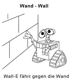 Wand-Wall Eselsbrücke Deutsch-Englisch