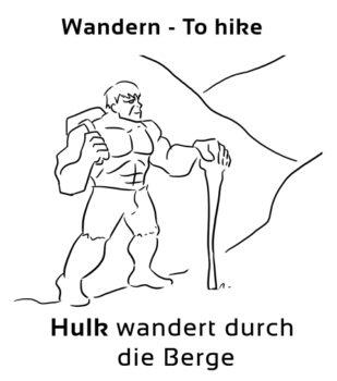 Wandern-Hike Eselsbrücke Deutsch-Englisch