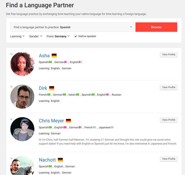 Mit italki online einen Tandempartner finden