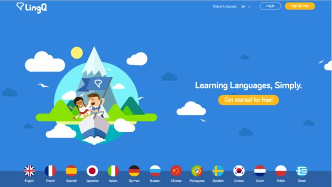 So sieht die Homepage von LingQ aus