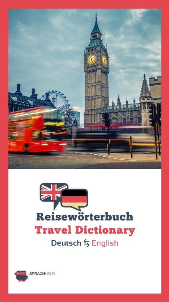Reisewörterbuch Deutsch Englisch kostenlos
