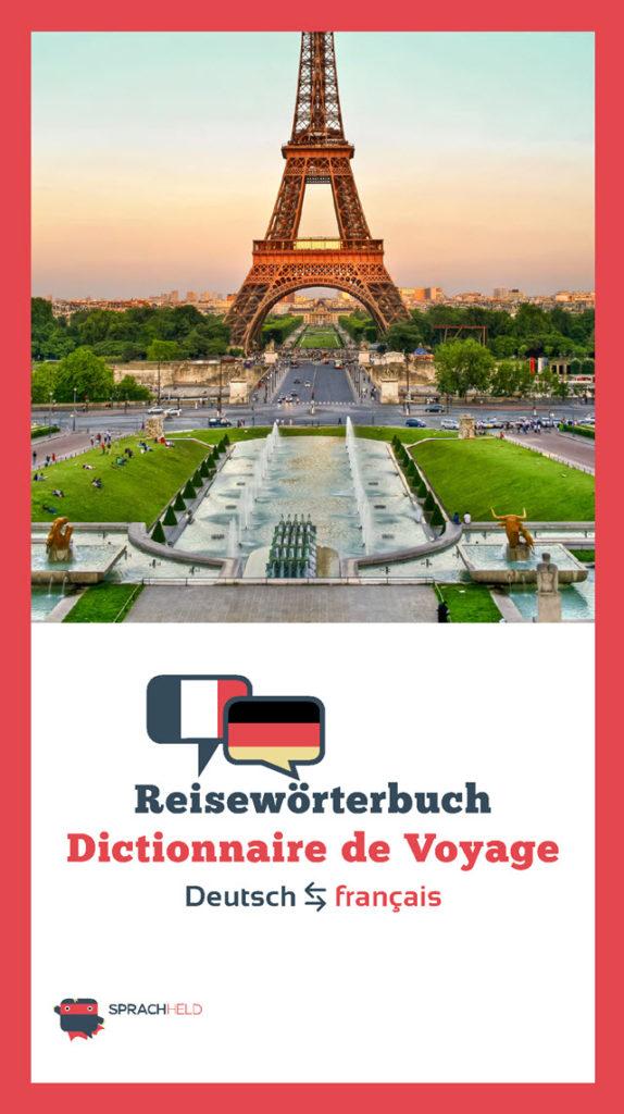 Reisewörterbuch Deutsch - Französisch kostenlos