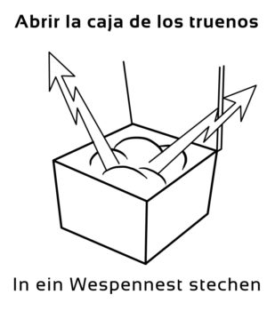 Abrir-la-caja-de-los-Spanische-Redewendungen-Sprichwörter
