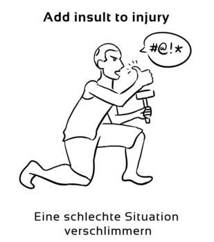 Add-insult-to-injury-englische-sprichwörter-redewendungen