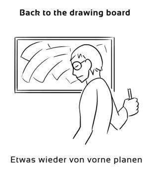 Back-to-the-drawing-board-englische-sprichwörter-redewendungen