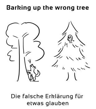 Barking-up-the-wrong-tree-englische-sprichwörter-redewendungen