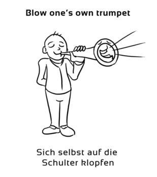 Blow-ones-own-trumpet-englische-sprichwörter-redewendungen