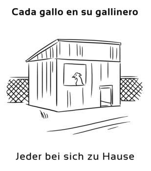 Cada-gallo-en-su-gallinero-Spanische-Redewendungen-Sprichwörter