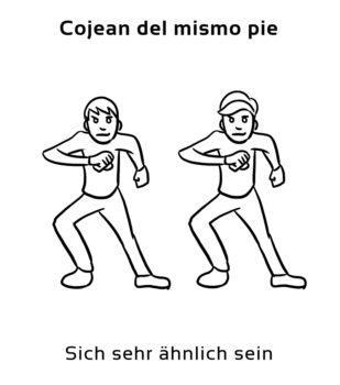 Cojean-del-mismo-pie-Spanische-Redewendungen-Sprichwörter