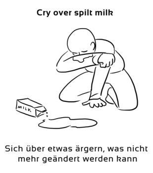Cry-over-spilt-milk-englische-sprichwörter-redewendungen