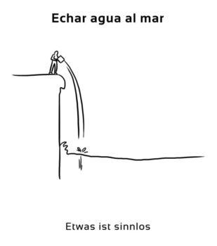 Echar-agua-al-mar-Spanische-Redewendungen-Sprichwörter