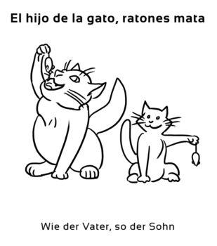 El-hijo-de-la-gata-Spanische-Redewendungen-Sprichwörter
