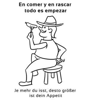 En-comer-y-en-rascar-Spanische-Redewendungen-Sprichwörter