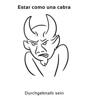Estar-como-una-cabra-Spanische-Redewendungen-Sprichwörter