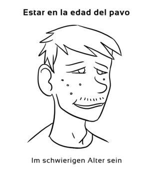 Estar-en-la-edad-del-Spanische-Redewendungen-Sprichwörter