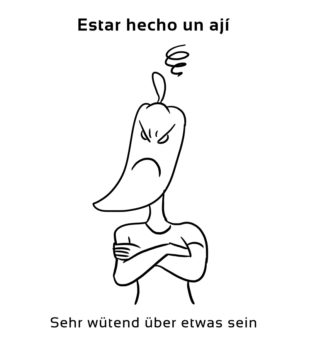 Estar-hecho-un-aji-Spanische-Redewendungen-Sprichwörter