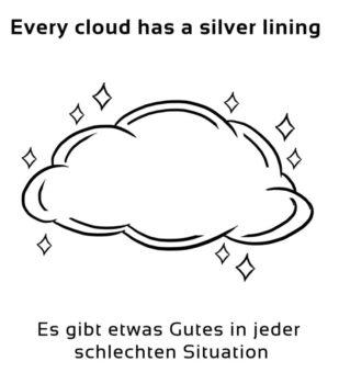 Every-cloud-has-a-silver-lining-englische-sprichwörter-redewendungen