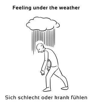 Feeling-under-the-weather-englische-sprichwörter-redewendungen
