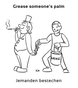 Grease-someones-palm-englische-sprichwörter-redewendungen
